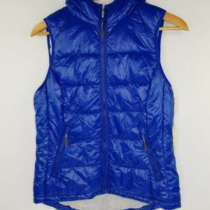 NWT Tangerine womens small Royal blue hooded vest